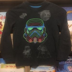 Star Wars Glow in the Dark Long sleeve Shirt sz XS